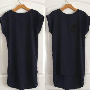 River Island Silky High Low Shirt Dress w/ Pocket
